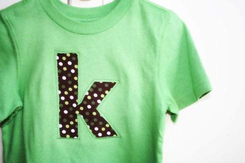 tutorial: letter applique shirt