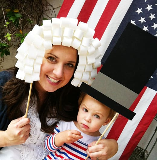 Presidents Day Photo Booth Props | Tutorial  #presidentsday #craft