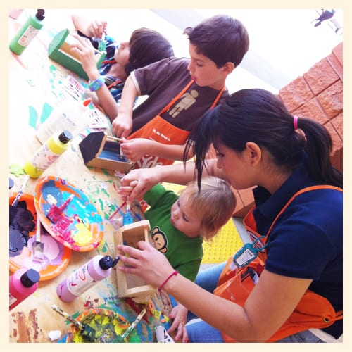 Kid projects at home depot