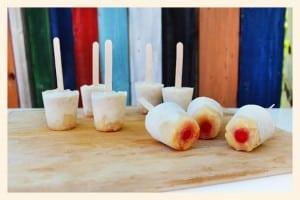 Pineapple Upside Down Cake Popsicles and a Movie