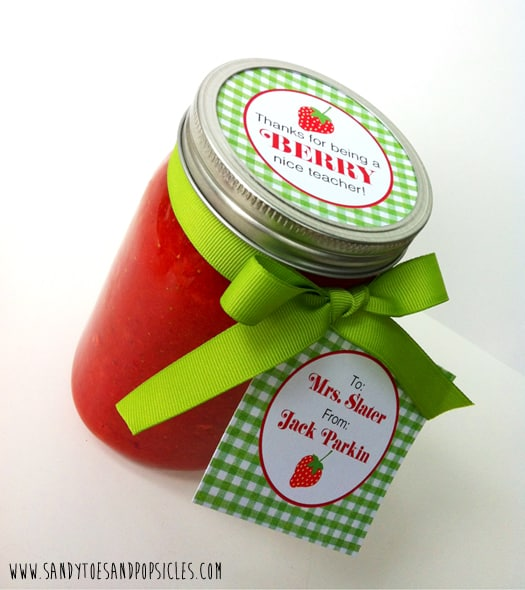 Berry jam teacher appreciation gift printable popsicle blog the internet for something to give your teacher here is an idea that is simple and yummy how about giving your teacher a jar of homemade jam negle Image collections