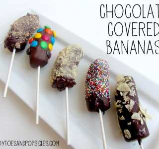 Easy Chocolate Covered Bananas