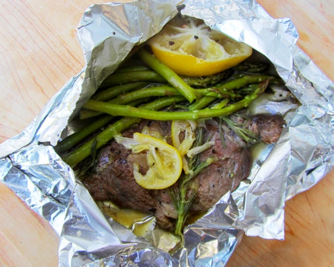 LEMON HERB STEAK FOIL PACKET SUMMER GRILLING RECIPE