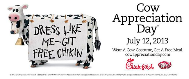 photograph about Chick Fil a Cow Costume Printable identify Cow Appreciation Working day at Chick-fil-A Absolutely free Food stuff - Popsicle Web site