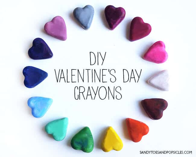 DIY Valentine's Day Heart Crayons