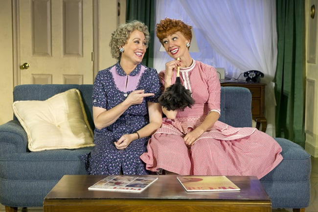 Joanna Daniels as Ethel and Sirena Irwin-I LOVE LUCY-segerstrom