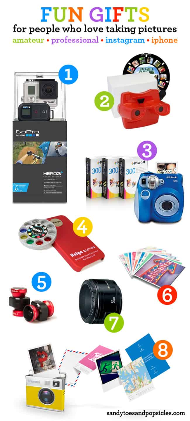 Fun gift ideas for people who love taking or getting photos - Sandytoesandpopsicles.com