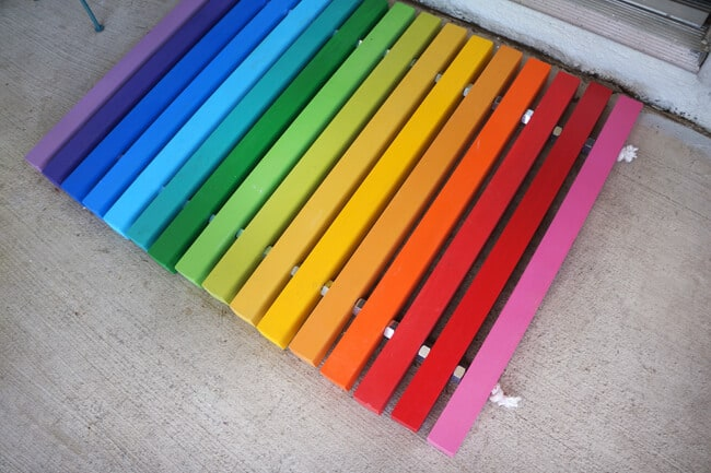 How to make a Rainbow Doormat