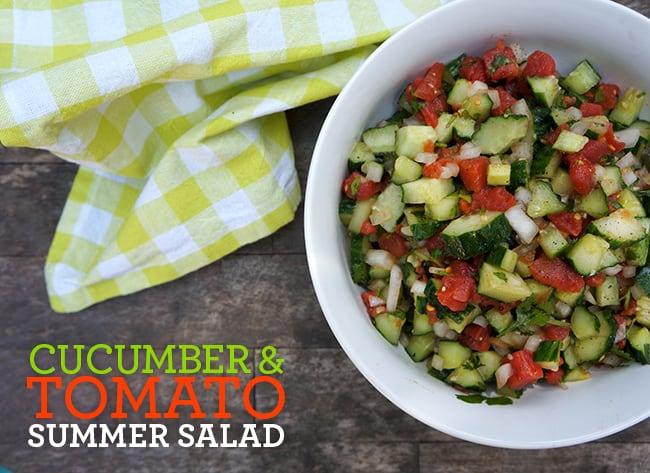 Summer Cucumber and Tomato Salad Recipe #dinnerdone #shop