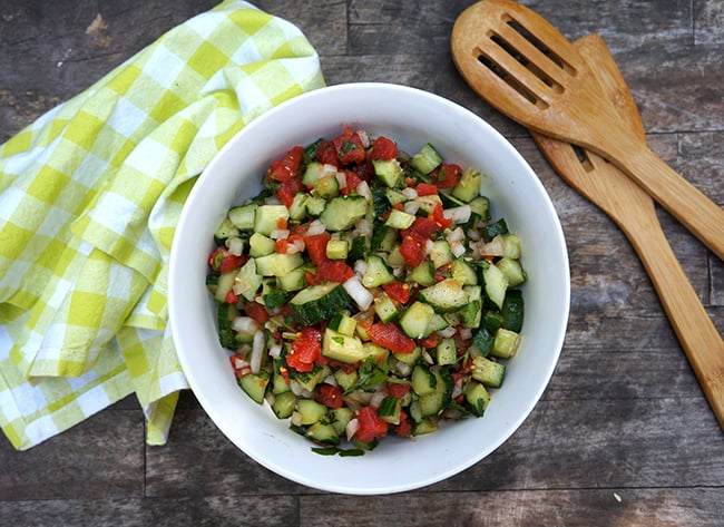Best Cucumber and Tomato Salad Recipe #dinnerdone #shop
