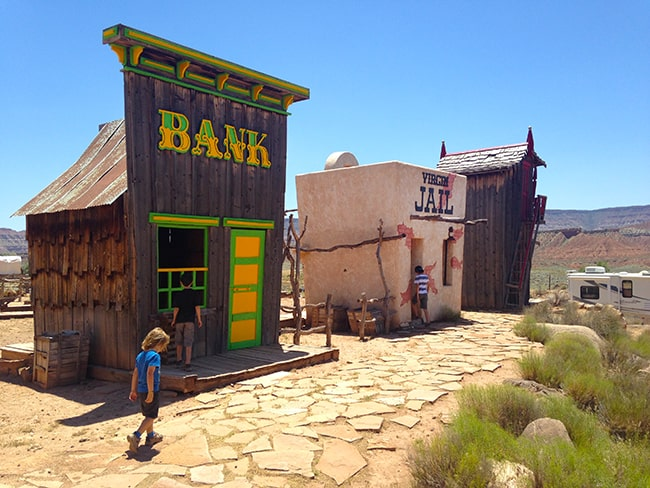 what draws you in is the awesome little old wild west buildings and