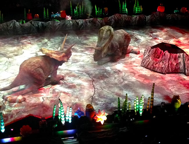 Walking With Dinosaurs at the Honda Center - Popsicle Blog
