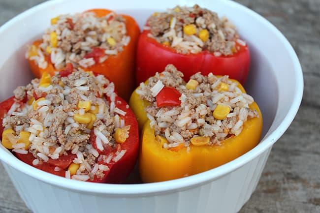 Easy Turkey Stuffed Bell Peppers Recipe