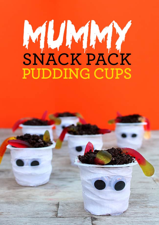 Mummy Snack Pack Pudding Cups