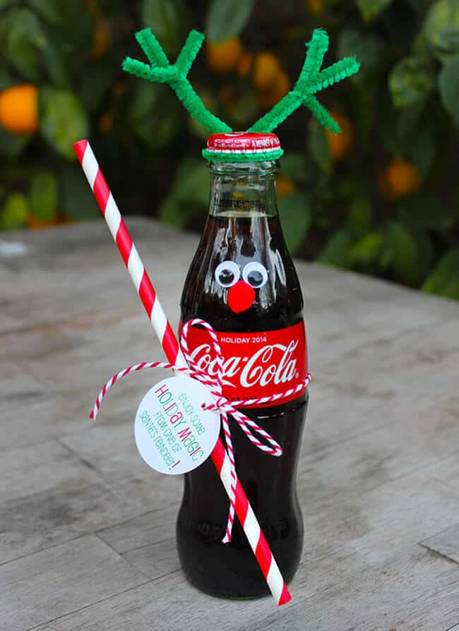 Coke Bottle Reindeer Christmas gift idea