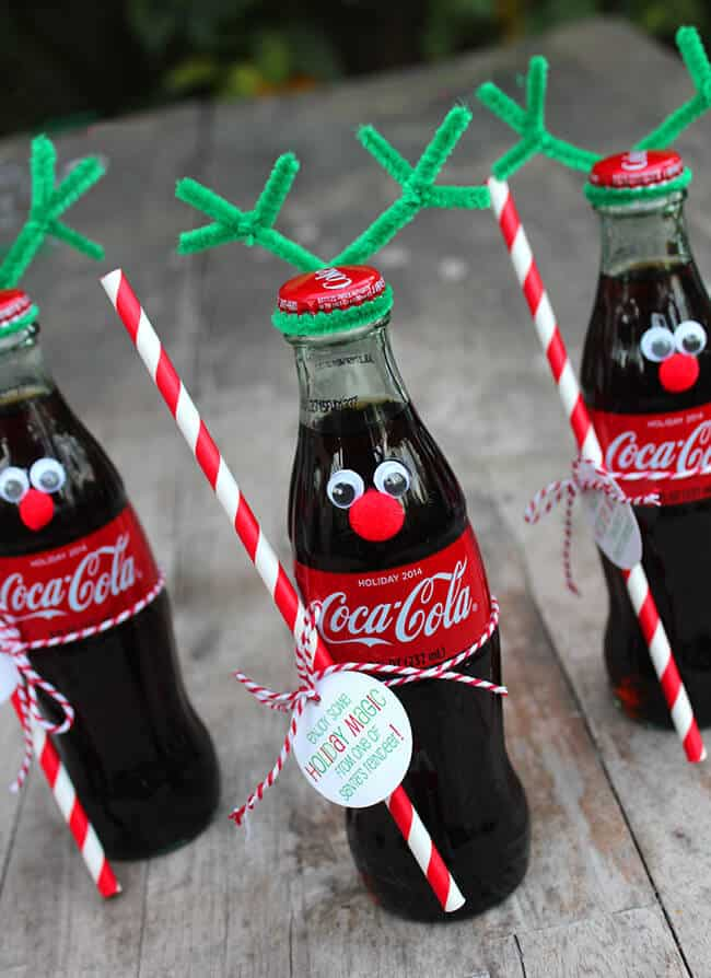 Coke Bottle Reindeer gift