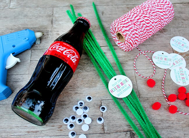 Coke Bottle Reindeer instructions