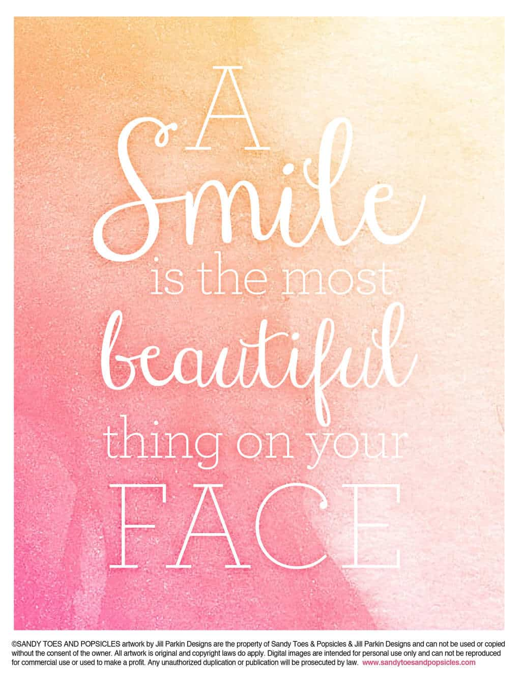 Smile Quote | Share Your Beautiful Smile Free Printable Popsicle Blog