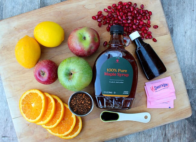 Thanksgiving Spiced Apple Cider Punch Ingredients