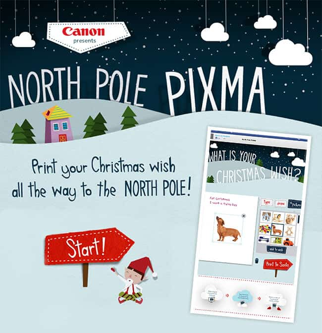 North Pole PIXMA Image Snow Globe Event