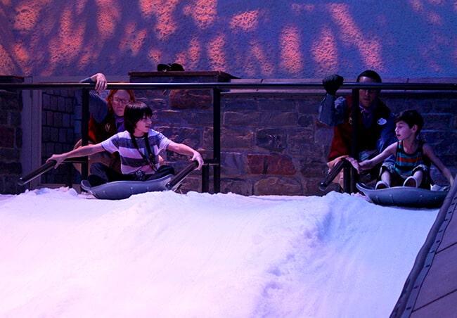 Disneyland Frozen Arendelle sledding