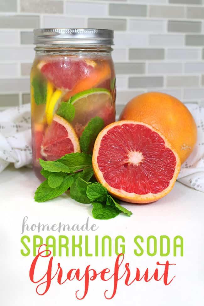 Easy Sparkling Grapefruit Mint Mocktail