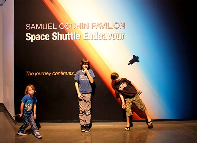 Endeavor Space Shuttle Samuel Oschin Pavilion