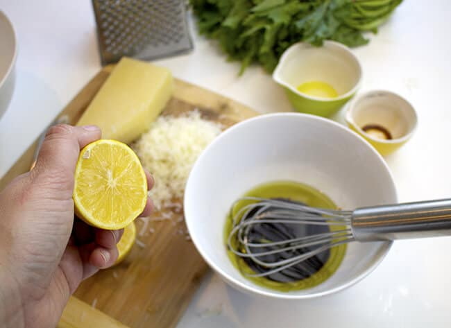 Rapini Parmesan Salad Recipe