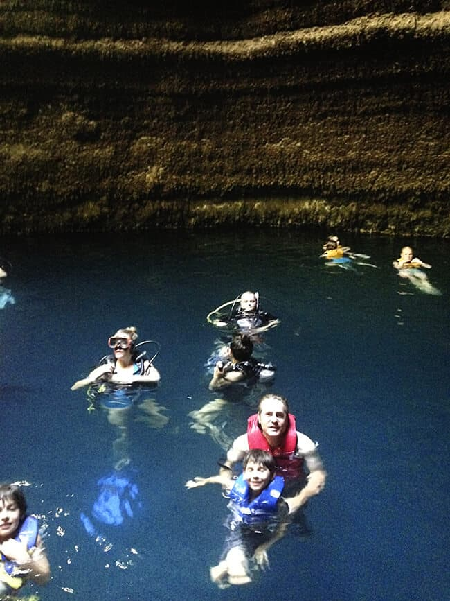 Swimming in the Homestead Crater
