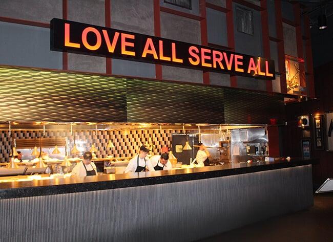 Hard Rock Cafe Love All Kitchen