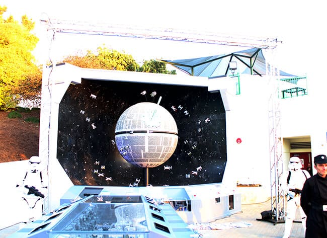 Legoland Death Star Reveal Ceremony