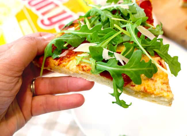 Easy Arugula Pizza