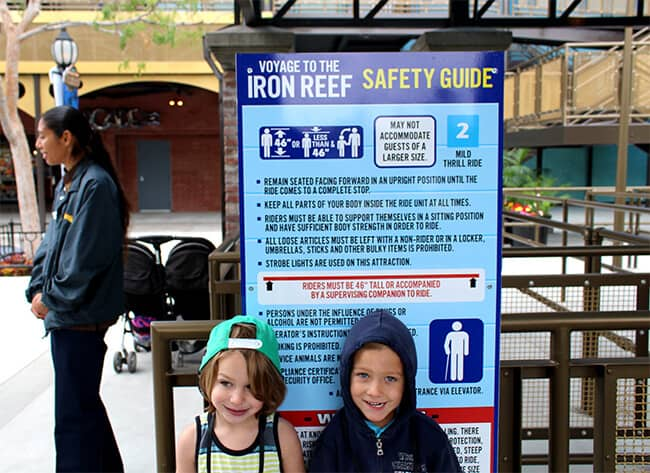 Knott's Voyage to the Iron Reef Height Requirements