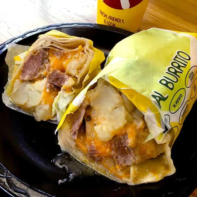 Miguels Potato Carne Asada Burrito Orange County