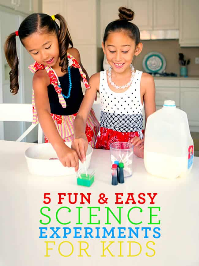 5 Easy Science Experiments for Kids