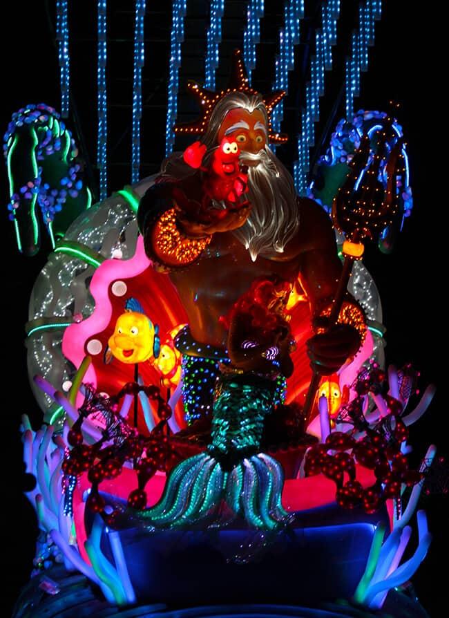 Disney Paint the Night Parade King Triton