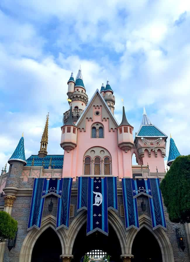 Disneyland 60th Diamond Celebration Sleeping Beauty Castle Back