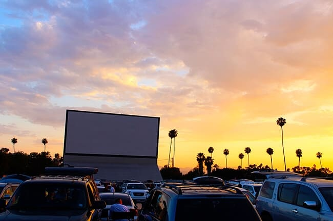 Drive in movie theater in california
