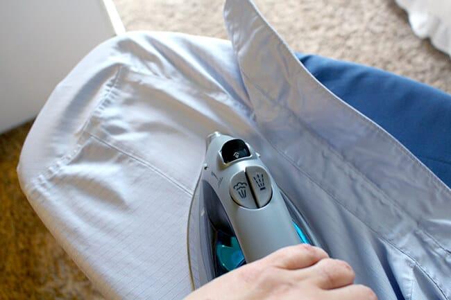 Ironing Wrinkled Shirt