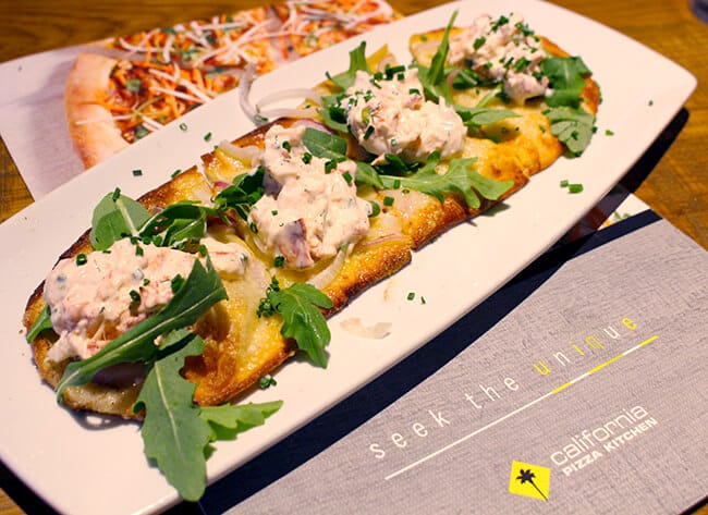 California Pizza Kitchen Lobster Flat Bread