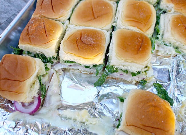 Turkey Provolone Hawaiian Bread Sliders