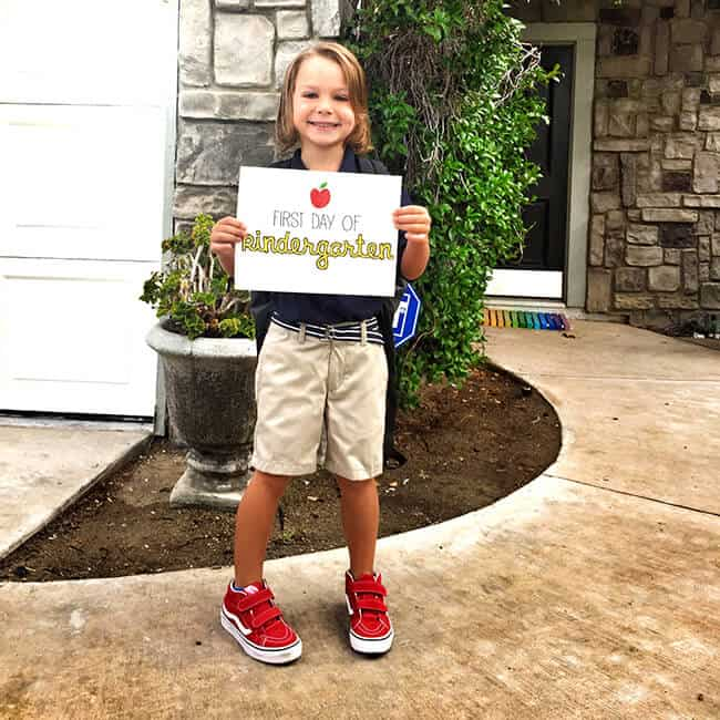 Vann First Day of Kindergarten