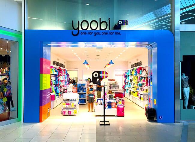 Westfield Santa Anita Mall Yoobi Store