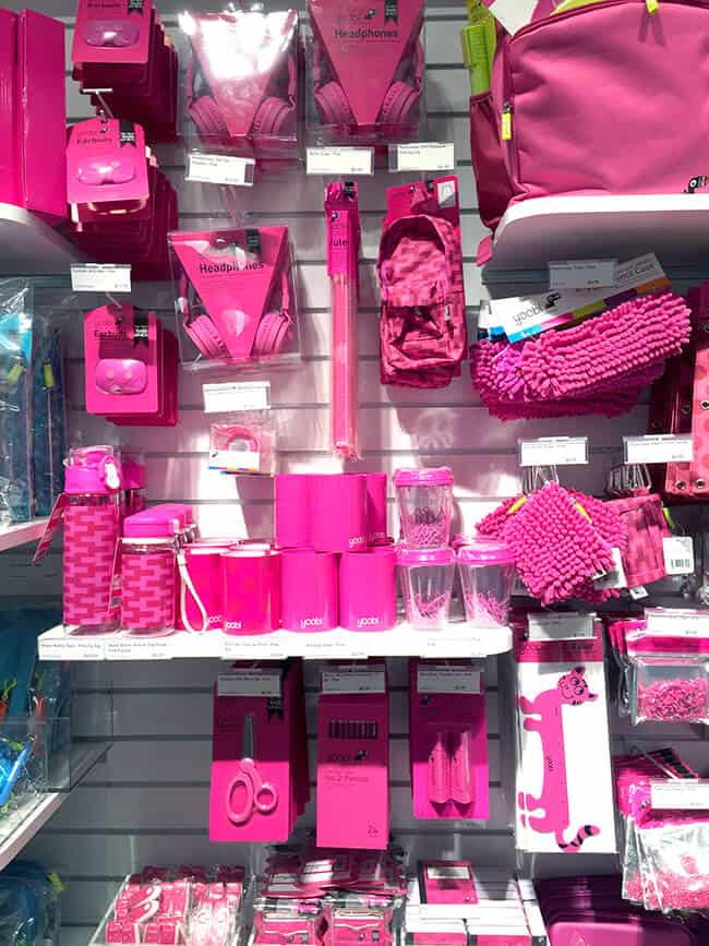 Yoobi Pink School Supplies