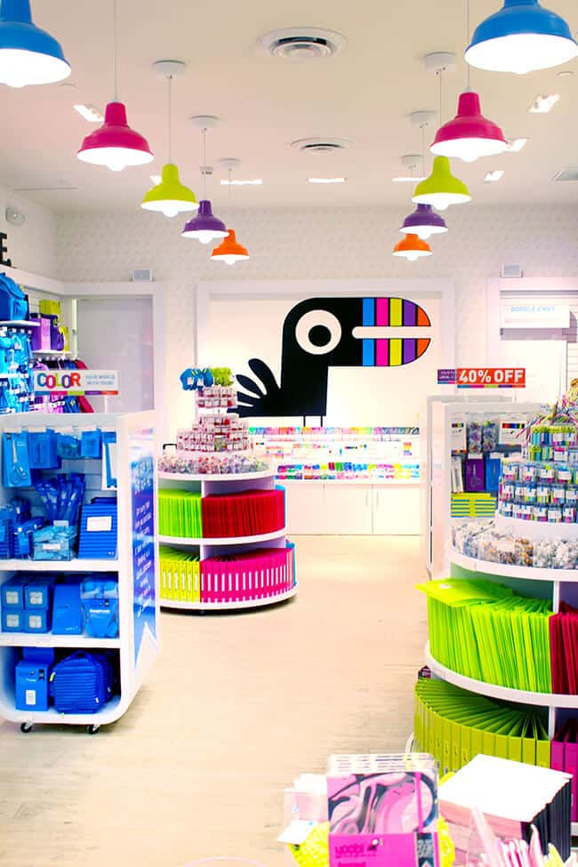 Yoobi School Supply Store in the Westfield Santa Anita Mall