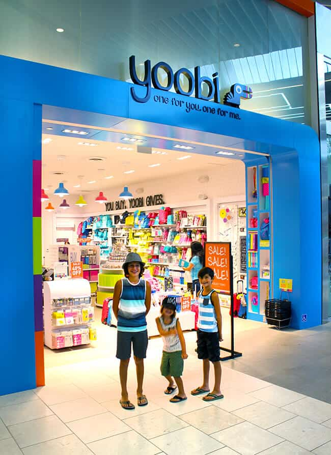 Yoobi Store in the Westfield Santa Anita Mall
