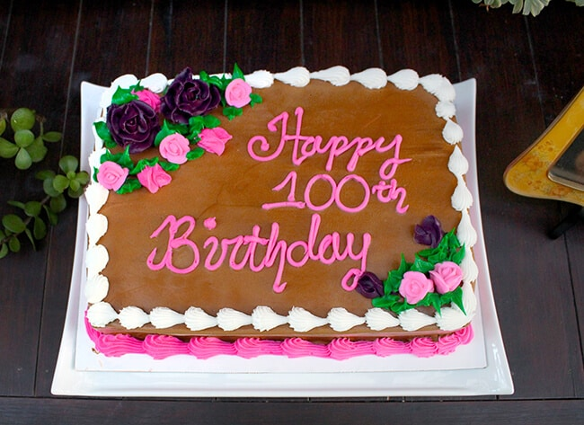 Baskin Robbins Design Your Own Cake : Great Grandma s 100th Birthday Party - Popsicle Blog