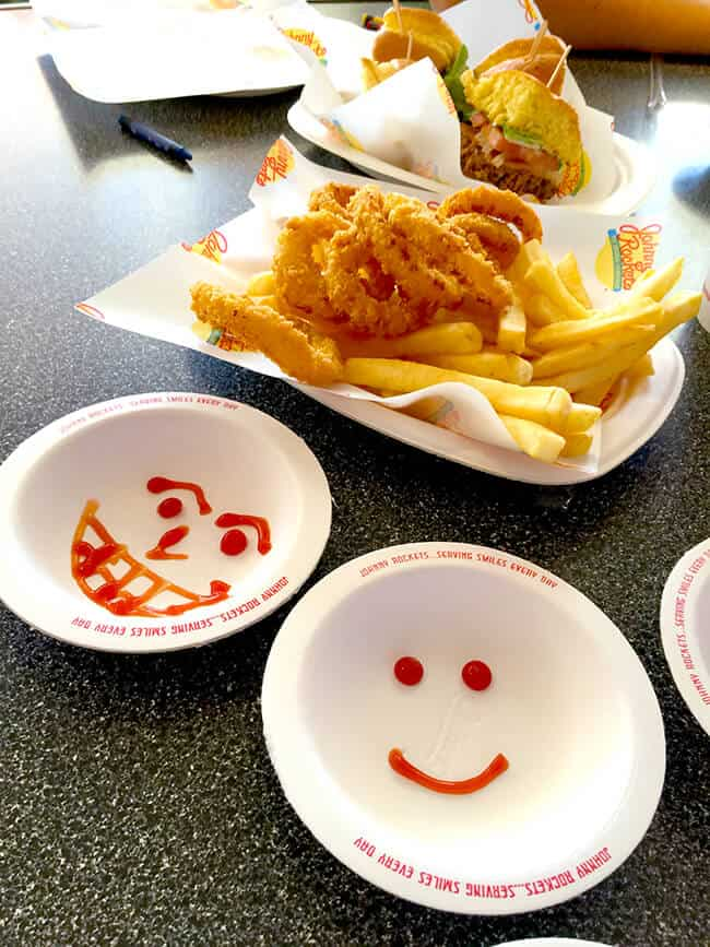 Johnny Rockets Ketchup Art