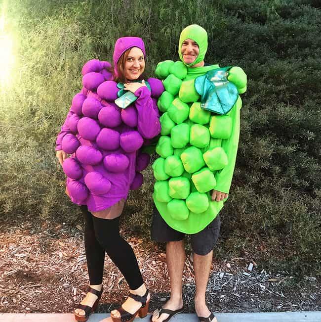 Halloween Grape Costumes