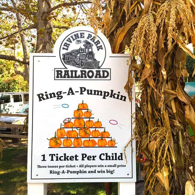 Irvine Park Railroad Pumpkin Patch Ring A Pumpkin